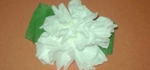Make a carnation flower using toilet paper with kids
