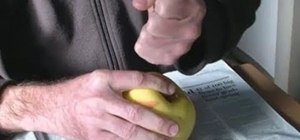 Split an apple in half with one finger