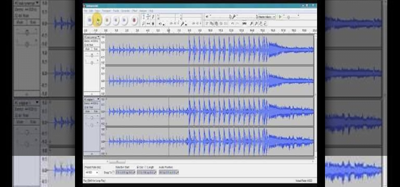 How to Make a song acapella using Audacity « Audacity :: WonderHowTo
