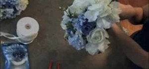 Make a wedding bouquet fast and cheap