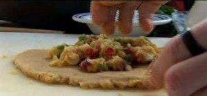 Make vegan gluten-free samosa