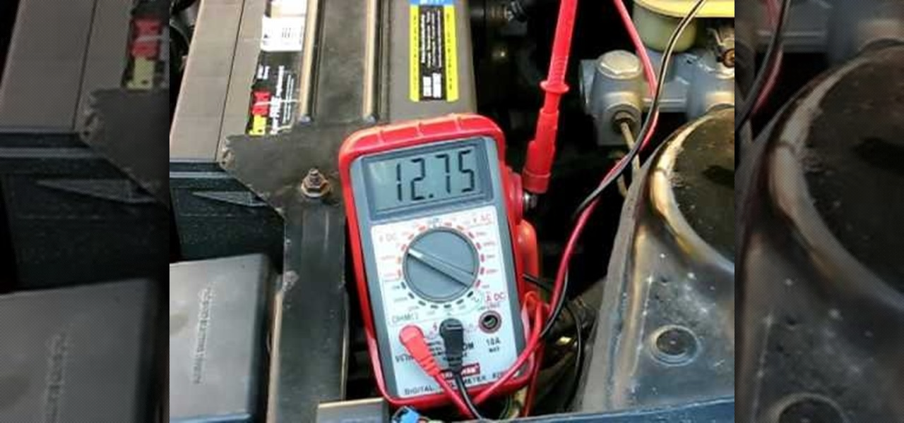 how to test a vehicle alternator with a standard multimeter rh vehicle maintenance wonderhowto com multimeter setting for car wiring multimeter test car wiring