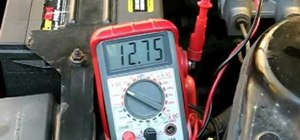 Test a vehicle alternator with a standard multimeter