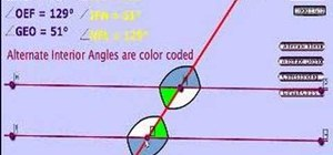 Calculate angles formed between parallel lines