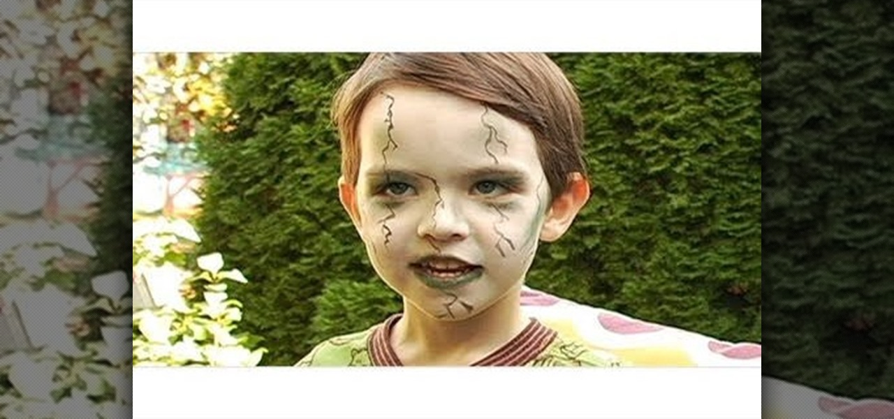 Halloween Makeup For Kids Boy.How To Create A Scary Green Zombie Look For A Little Kid For