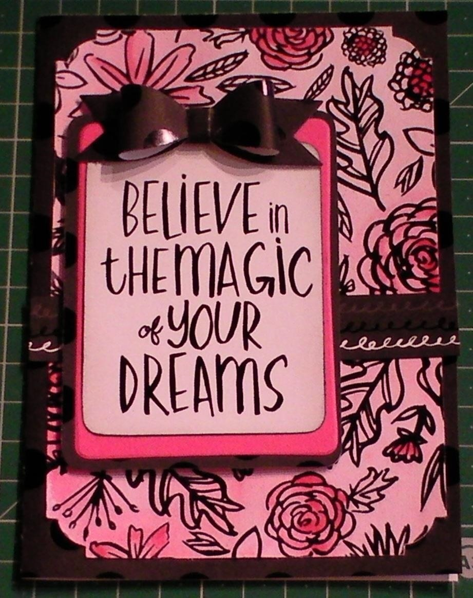 Make a Black Floral Magic Cerise Card
