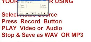 Use Windows to record sound