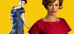 "Create Joan Holloway's retro ""Mad Men"" curled updo"
