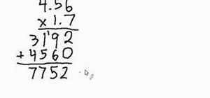 Multiply decimal numbers