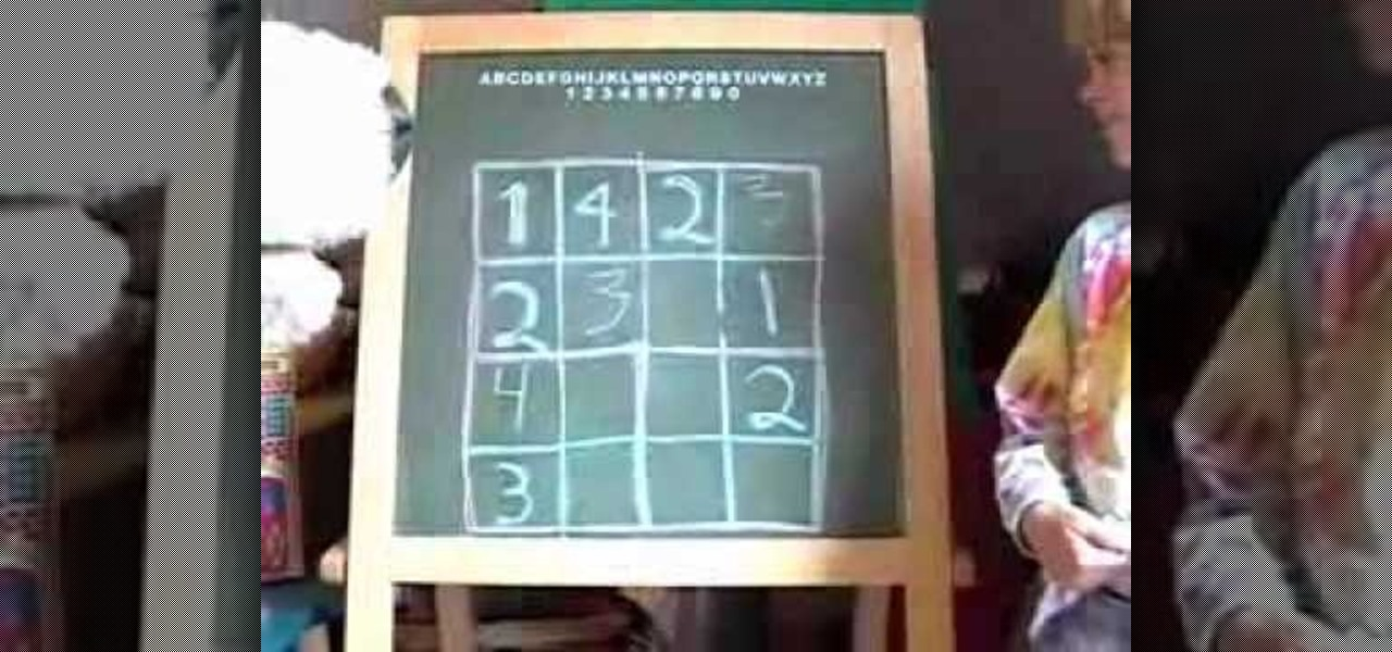 How to Solve a 4 X 4 sudoku puzzle « Puzzles :: WonderHowTo