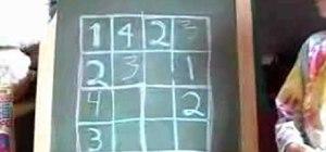Solve a 4 X 4 sudoku puzzle