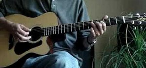 Use the A, E, G and D chord shapes on acoustic guitar