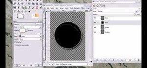 Create a circle button in GIMP