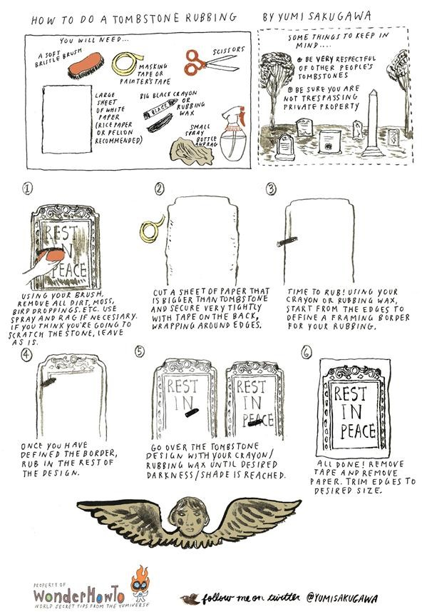 How to Do a Tombstone Rubbing