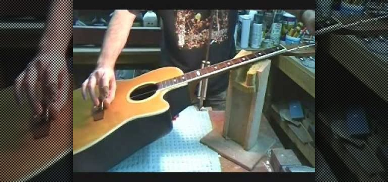 how to change strings to improve your acoustic guitar sound acoustic guitar wonderhowto. Black Bedroom Furniture Sets. Home Design Ideas