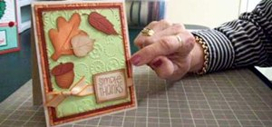 Make a thank you card using Cricut DoodleCharms & SYI