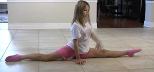 Perform a gymnastic split-roll dance move (for kids)