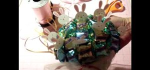 Make a candy bouquet for Easter