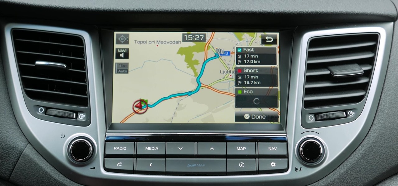 Enter Address in Hyundai Tucson Navigation System