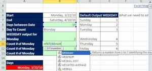 Count certain days of the week in Microsoft Excel