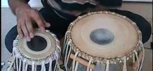 Tune an Indian tabla drum