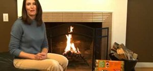 Build a fire with a Duraflame firestarter