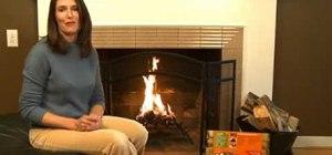 Build a fire with a Duraflame firestarter