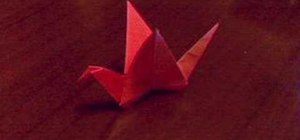 Origami a flapping bird with a lot of detail