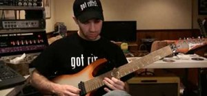 Play Lydian mode riffs on electric guitar