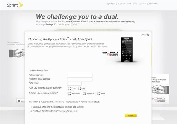 How to Pre-Register for the Kyocera Echo Smartphone with Sprint