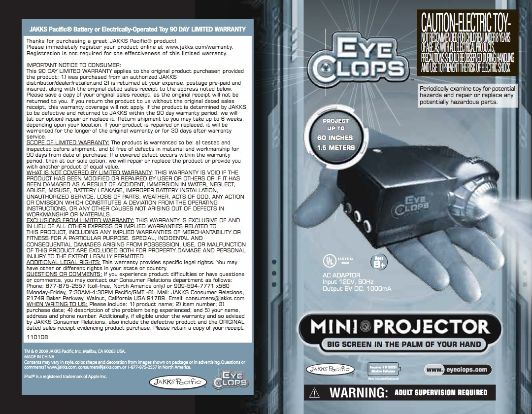 How to Use the EyeClops Mini Projector to Play Xbox 360 Games or Watch iPhone Videos