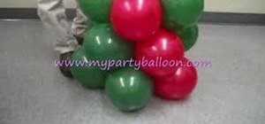 Make a party balloon Christmas tree