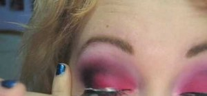 Do a hot pink dramatic MAC eye makeup look