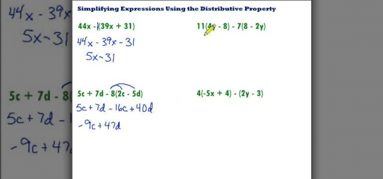 How to Simplify using the distributive property « Math ... Mathway Elimination on