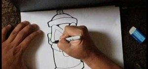 Draw a spraycan sketch