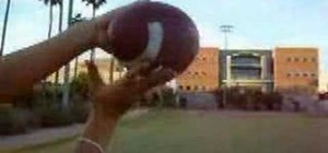 Throw a football the right way