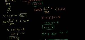 Solve rational inequalities (intermediate level)