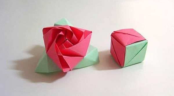 Origami Ring In Box