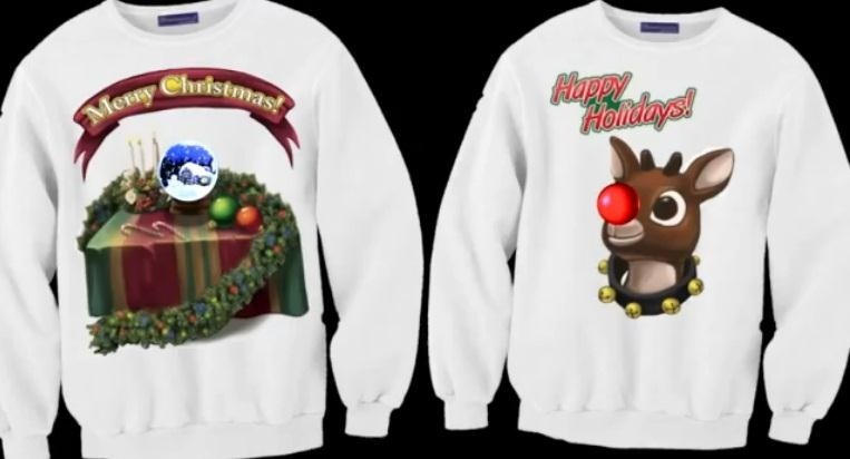 "How to Make the Best ""Ugly Christmas Sweater"" Ever, Complete with Animated Burning Fireplace"