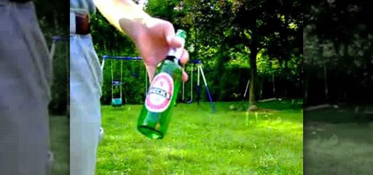How to break a glass bottle with your bare hands bar tricks for How to break bottom of glass bottle