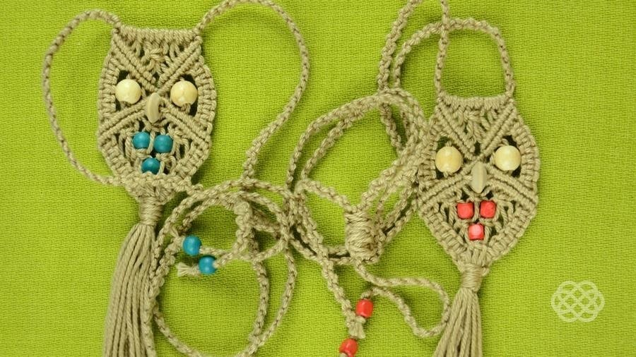 How to Make a Macrame Owl - Necklace