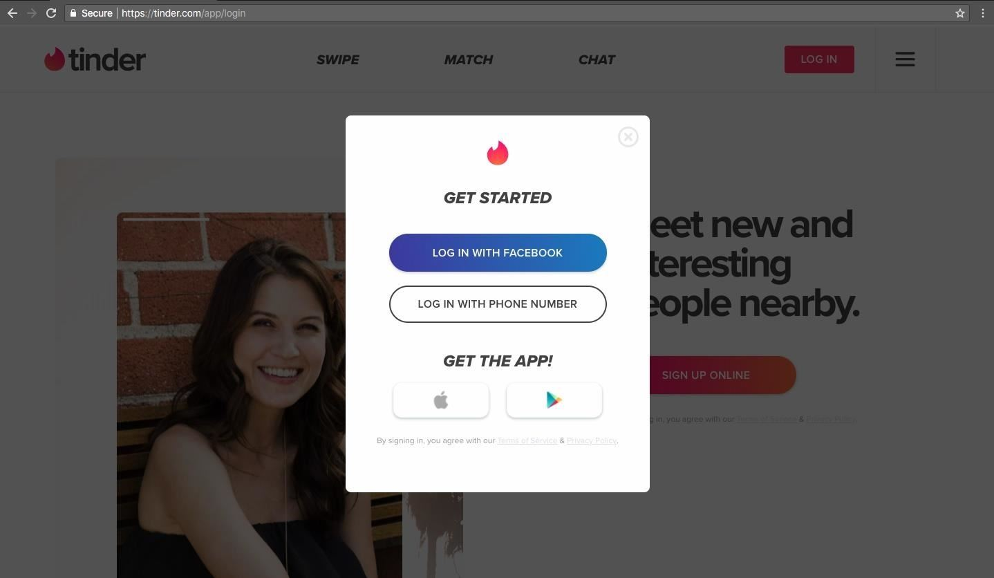 Browse tinder without signing up