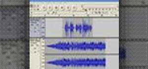 Apply a fade-out effect to an audio track in Audacity