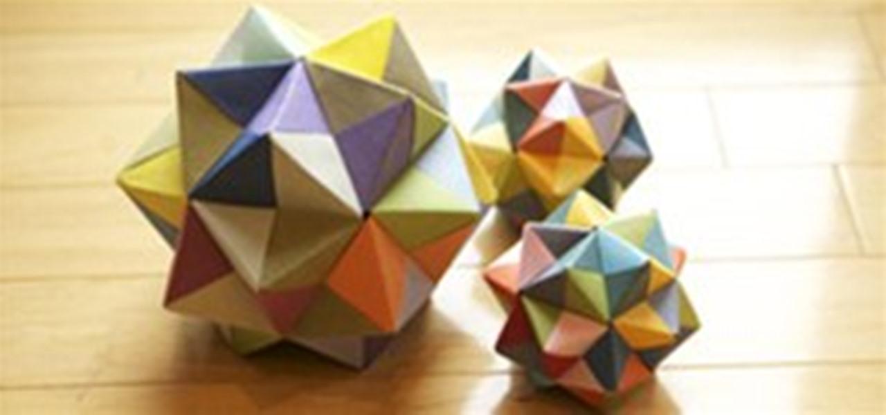 Modular Origami: Icosahedron, Octahedron & Cube « Math Craft