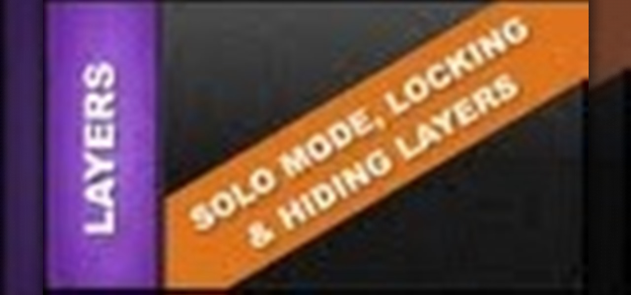 Use Solo Mode, Locking Layers and Hiding Layers Xara Web Designer