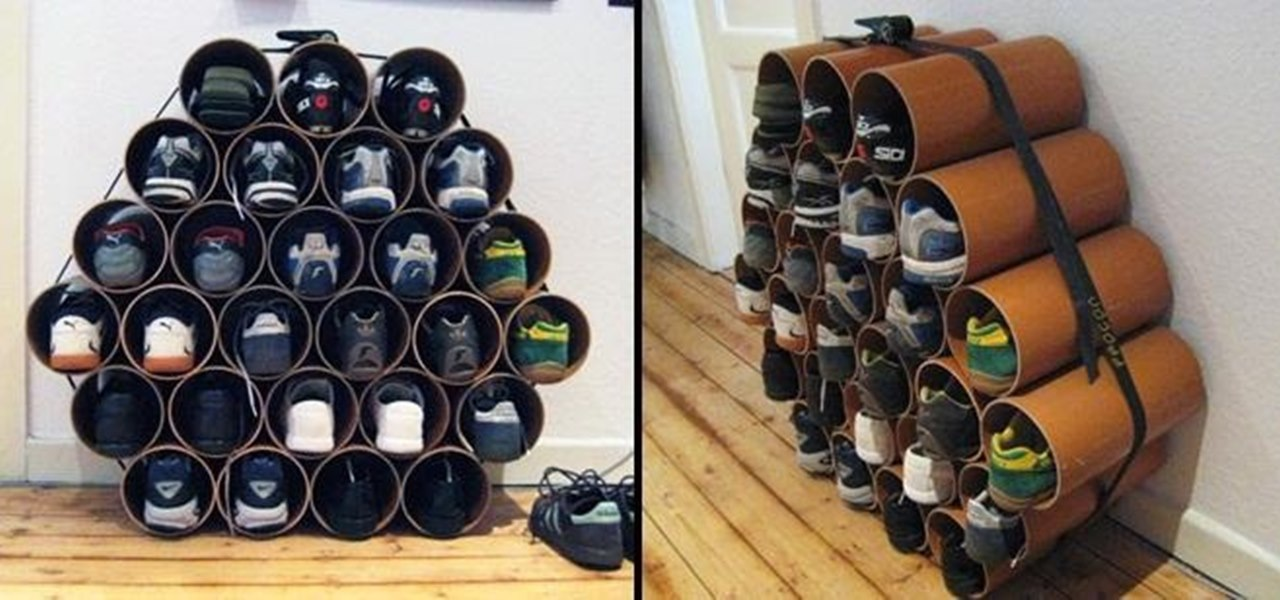 Build a Low-Cost Shoe Rack Using PVC Pipes