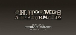 Create Sherlock Holmes-style movie titles in Cinema 4D