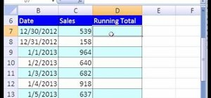 Create a running total with a formula or PV in Excel