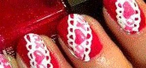 Create cute XOXO Valentine's nails