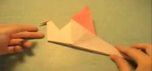 Origami a version of a flapping bird